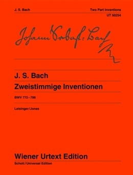 Two Part Inventions: Bwv 772-786: Piano (Wiener Urtext)