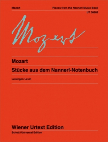 Pieces From The Nannerl Music Book: Piano  (Wiener Urtext)