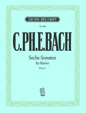 Klaviersonaten Wq 55/1-6 : Piano  (Breitkopf)