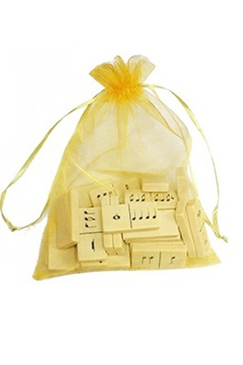 Musical Dominoes Set - Gold Bag (Seconds)