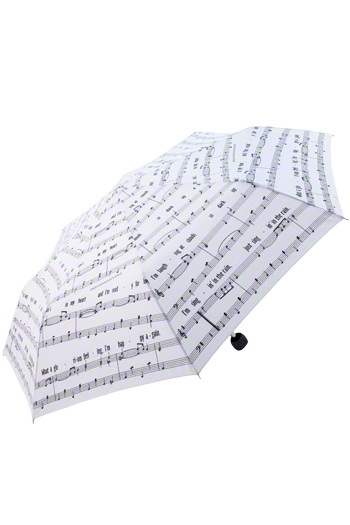 Singing In The Rain Umbrella - White
