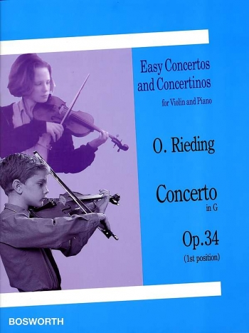 Concerto G Op.34: Violin & Piano (Bosworth)