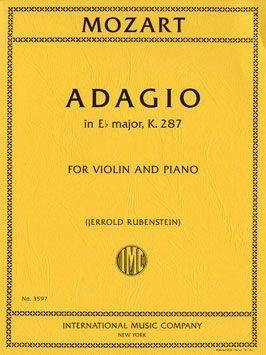 Adagio: Eb Major: K287: Violin and Piano