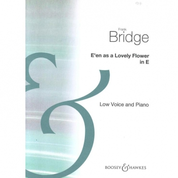 E En As A Lovely Flower: E: Low Voice and Piano