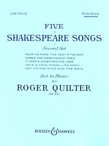 5 Shakespeare Songs: Second Set: High Voice