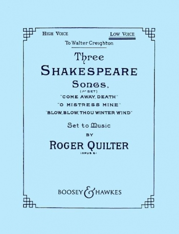 3 Shakespeare Songs: Vocal: Low Voice