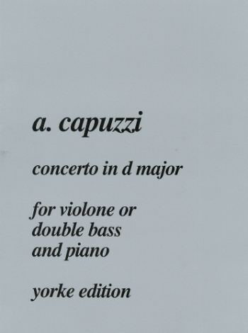 Concerto In D: Double Bass (Yorke)