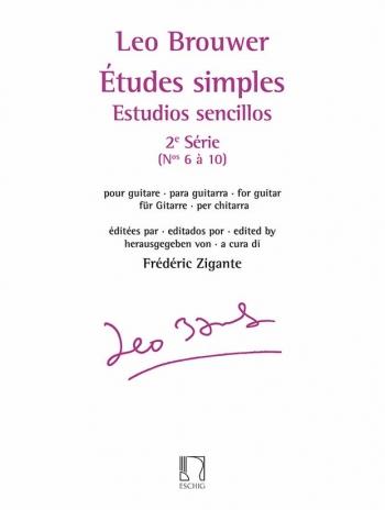 Etudes Simples (Estudios Sencillos) Série 2: Guitar (Eschig)