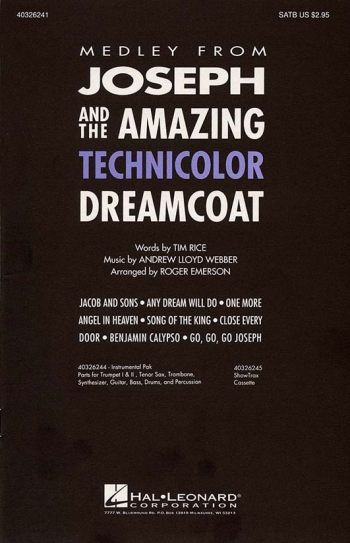 Joseph And The Amazing Technicolor Dreamcoat Medley Vocal SATB