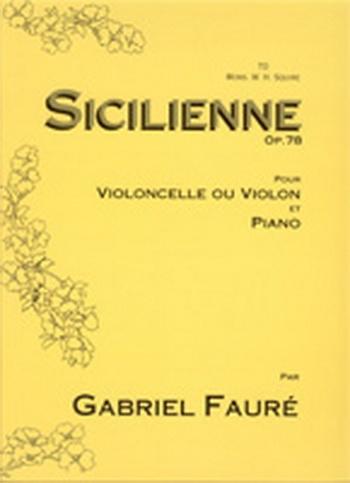 Sicilienne: Op78: Cello (Cramer)