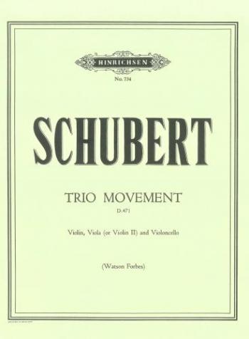 Schubert: Trio Movement: Bb D471: 2 Violins and Cello