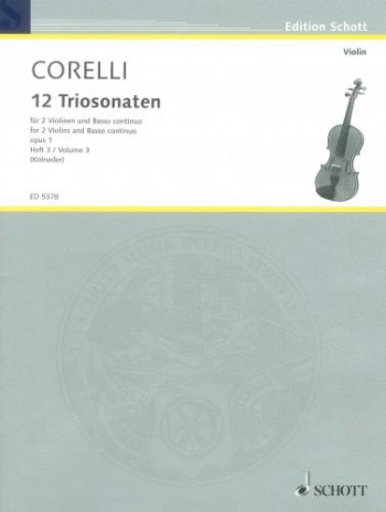 Trio Sonatas: Op.1 Vol3: 2 Violins And Continuo
