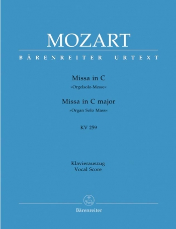 Mass In C Major: Kv259: Vocal Score (Barenreiter)