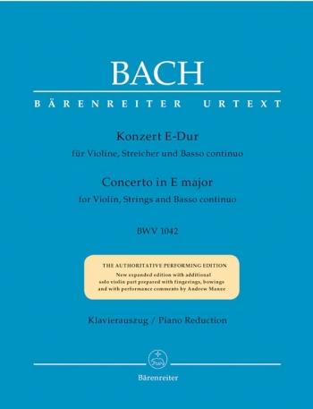 Concerto E Major No.2 Bwv1042: Violin & Piano (Barenreiter)