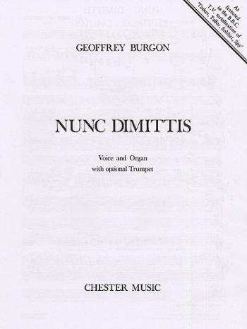 Nunc Dimittis: Vce: Org: Opt Tpt (E)