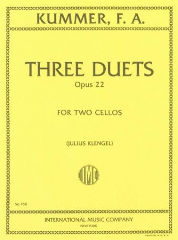 3 Duets: Op22 Cello (klengel) (International)