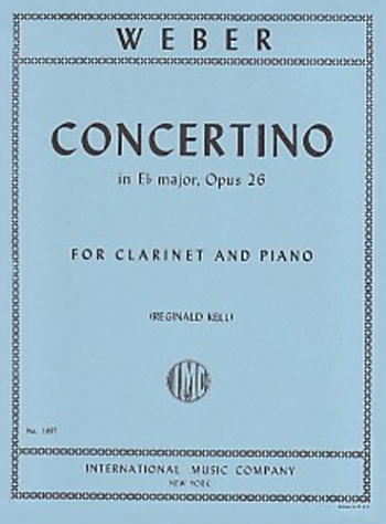 Concertino Eb Major Op26: Clarinet & Piano (International)