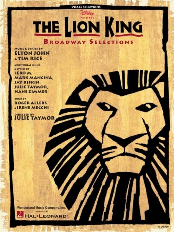 Lion King Broadway Selections - Piano Vocal & Guitar