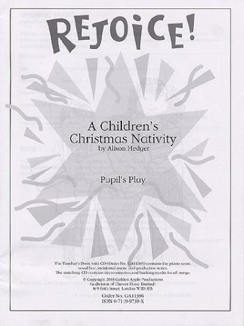 Rejoice: Pupils Book: Vocal: Cantata (Hedger)