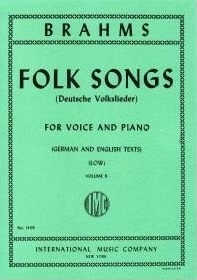 Folk Songs: Vocal Vol Ii: Low Voice and Piano : German And Enlgish Text