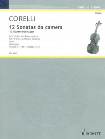 12 Sonatas : Vol4: Sonatas 10-12: 2 Violins and Piano