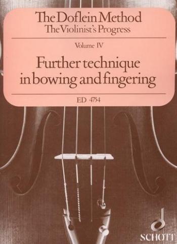 Doflein Violin Method: Vol 4:  Violin