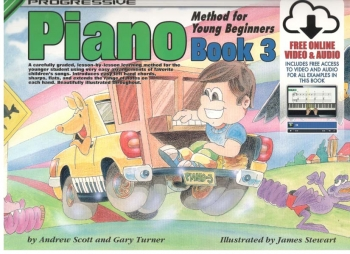 Progressive Piano Method For Young Beginners Book 3 (A5) Book Online Video & Audio