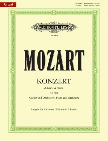 Concerto In A Major: KV488: Piano (Peters)