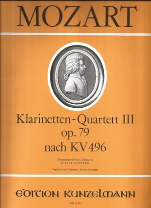 Quartet: Clarinet: K496: F Major