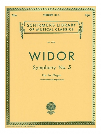 Symphony No.5 For Organ (Schirmer)