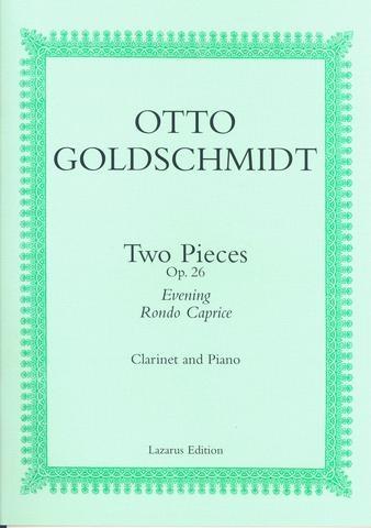 2 Pieces Op 26: Clarinet & Piano