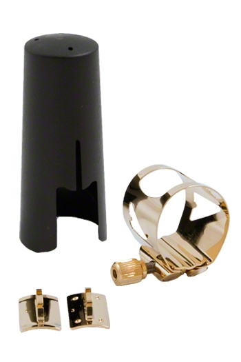 Vandoren LC07P Optimum Alto Sax Gilded Ligature & Plastic Cap