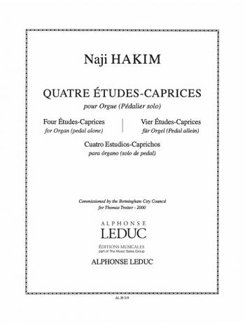 4 Etudes Caprices: Organ