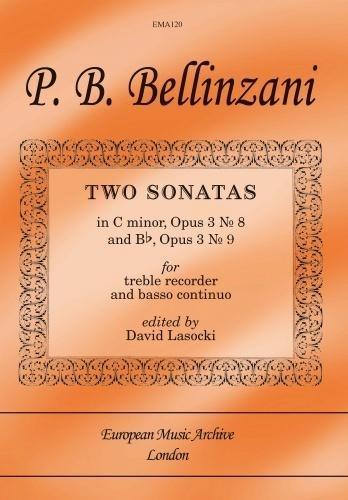 2 Sonatas C Minor and Bb Op3 No.8 and 9: Treble Recorder