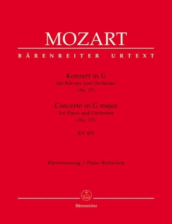 Concerto: G Major: KV543: No.17:  Piano Reduction   (Barenreiter)