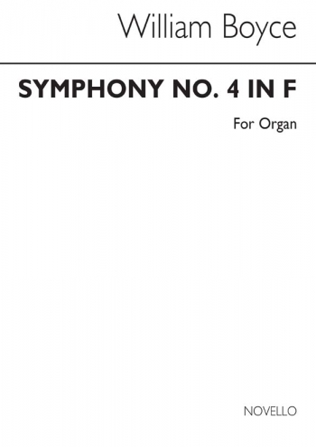Symphony No 4 Arranged For Organ (Archive Copy)