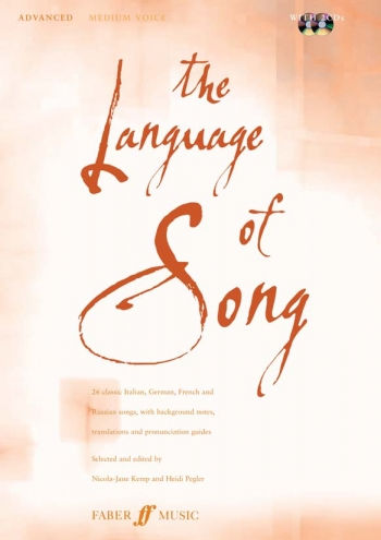 Language Of Song: Advanced: Medium Voice: Book and 2cd
