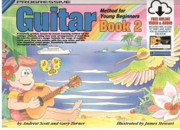 Progressive Guitar Method For The Young Beginner Book 2  (A5) Book Online Video & Audio