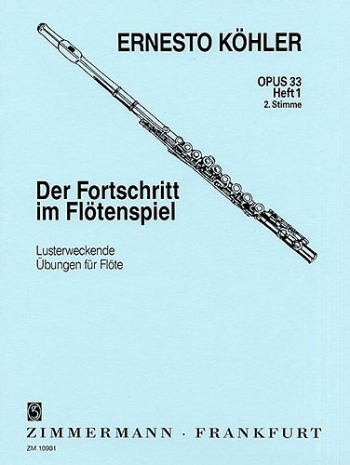 Progress In Flute Playing Op33: 1: Studies (Flute 2 Part)  (Zimerman)