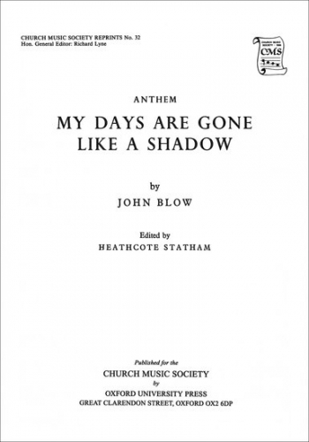My Days Are Gone Like A Shadow: Vocal TTBB (OUP)