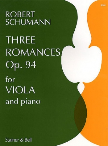 3 Romances Op94: Viola and Piano