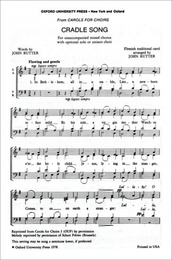 Cradle Song Vocal SATB (OUP)