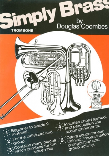 Simply Brass: Trombone Bass Clef Book Only & Cd (Coombes)