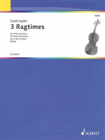 3 Ragtimes: Viola& Piano (Birtel) (Schott )