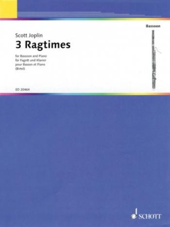 3 Ragtimes Bassoon & Piano (Schott)