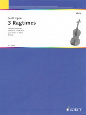 Three Ragtimes: Violin  and Piano