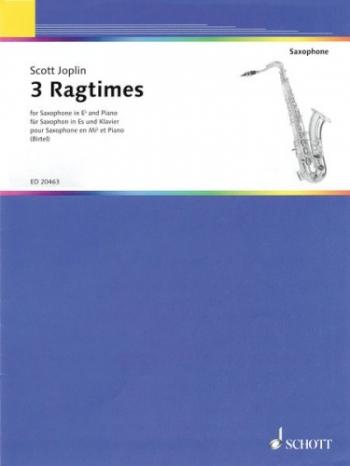 Joplin: 3 Ragtimes: Alto Saxophone & Piano
