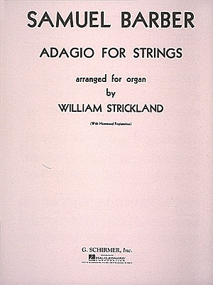Adagio For Strings: Organ (Schirmer)