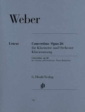 Concertino Eb Major Op26: Clarinet & Piano (Henle)