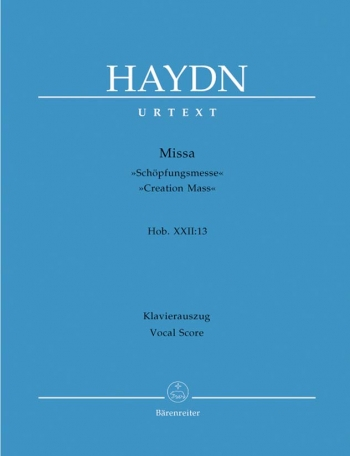 Creation Mass: Latin: Satb: Vocal Score  (Barenreiter)